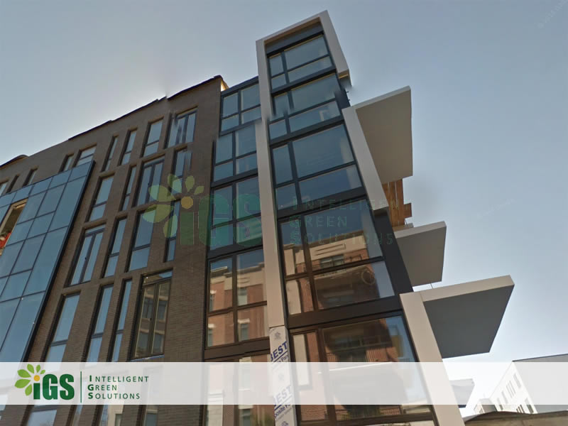 Multi-Family Solar Hot Water System – Tribeca West Condo Installation Image