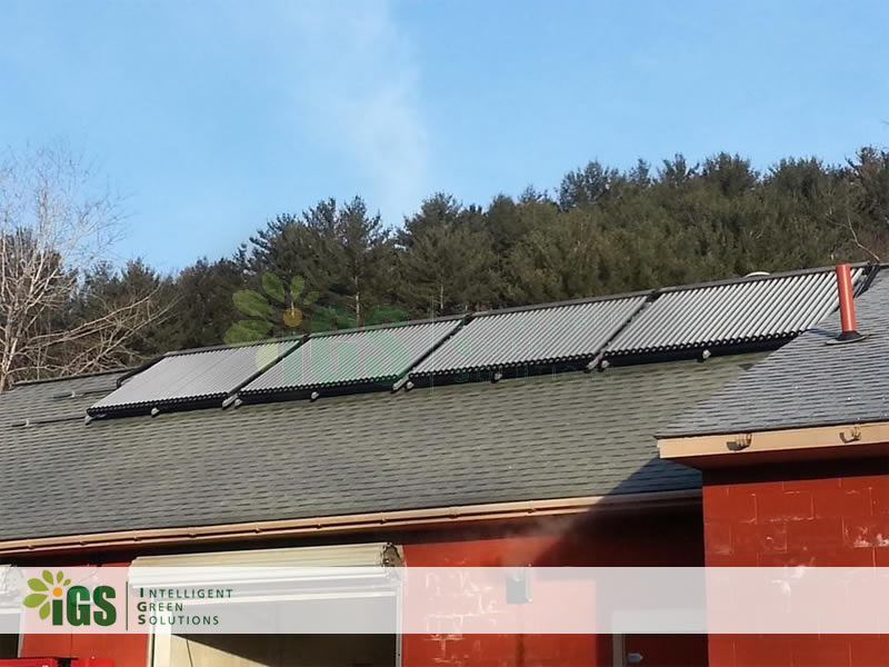 IGS Installs Solar Hot Water System At Suds & Shine Car Wash In Oneonta NY