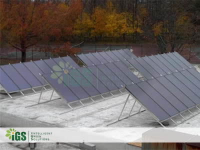 Intelligent Green Solutions and SunMaxx Solar Install Solar Hot Water System at Westchester Community College