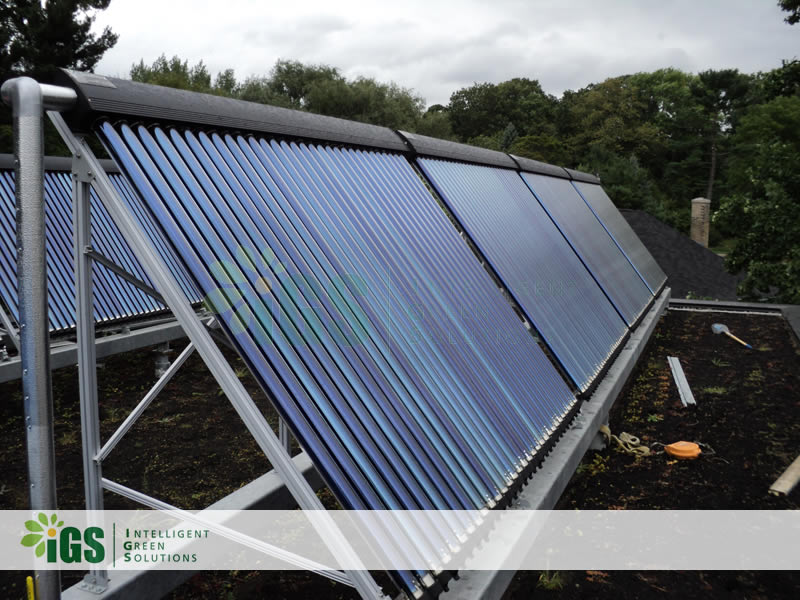 College Solar Hot Water System – Cornell Plantations Building Installation Image