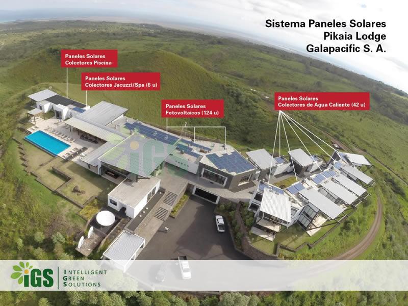 Resort Solar Hot Water System – Pikaia Resort Installation Image