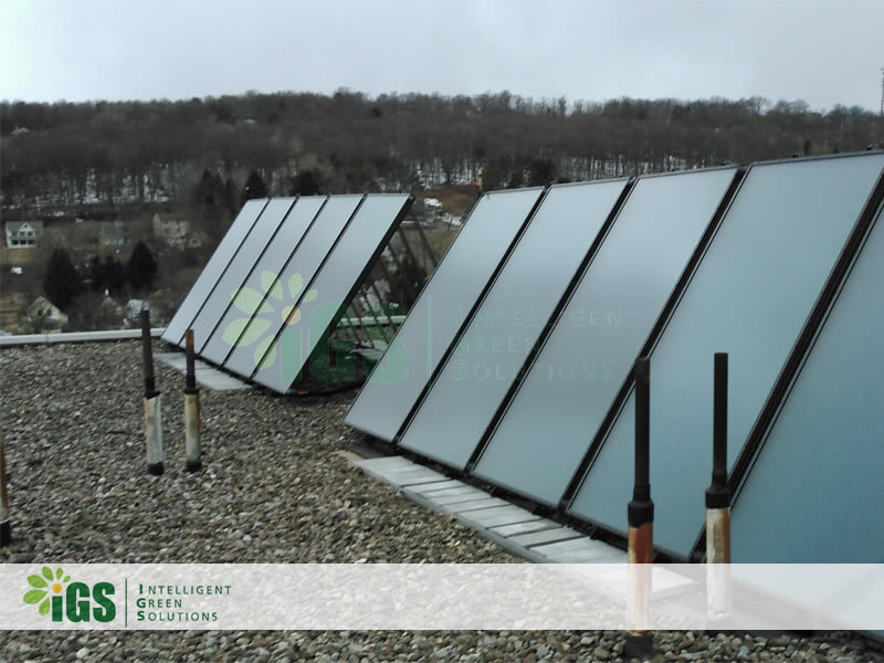 Intelligent Green Solutions Installs Solar Hot Water System At Huron Campus In Endicott NY