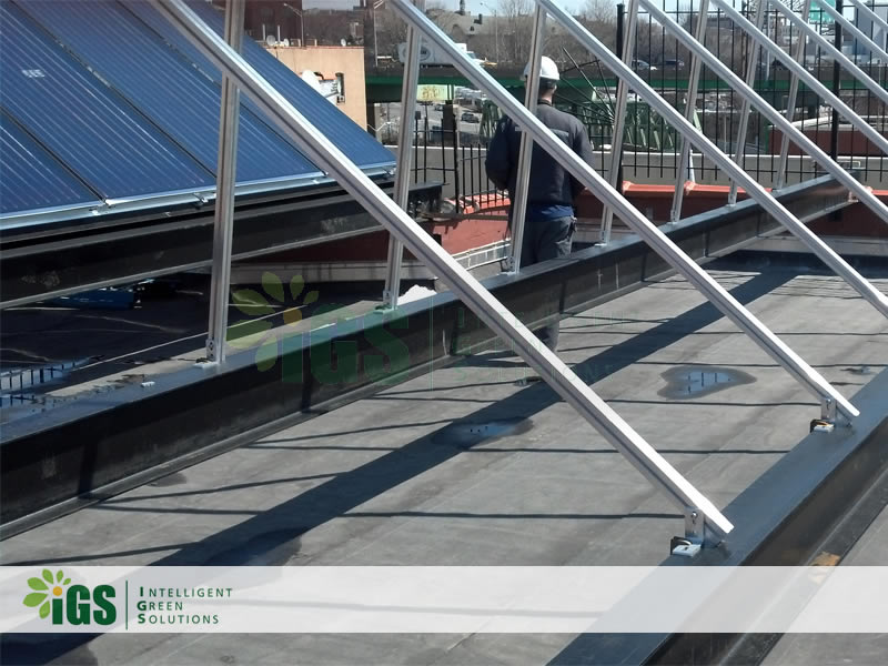 Mult-Family Solar Hot Water System – Longwood Ave Installation Image