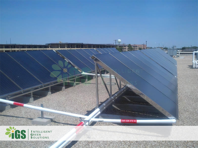 Military Solar Hot Water System – Fort Hood Army Base Installation Image
