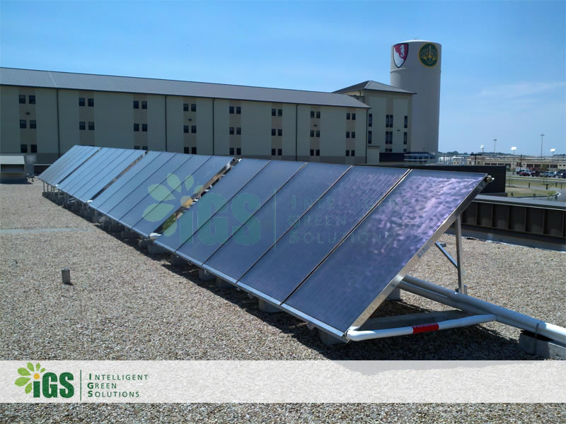 Military Solar Hot Water System – Fort Hood Army Base
