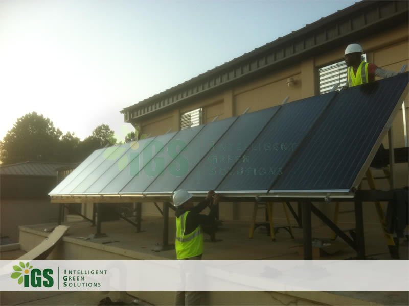Military Solar Hot Water System – Moody Air Force Base Installation Image