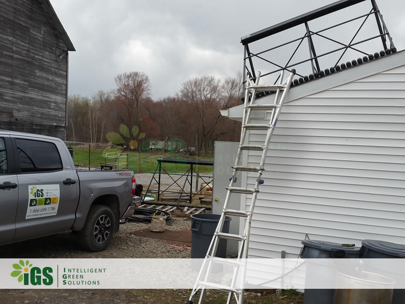 Beef Farm Solar Hot Water System – New York Beef Co Installation Image
