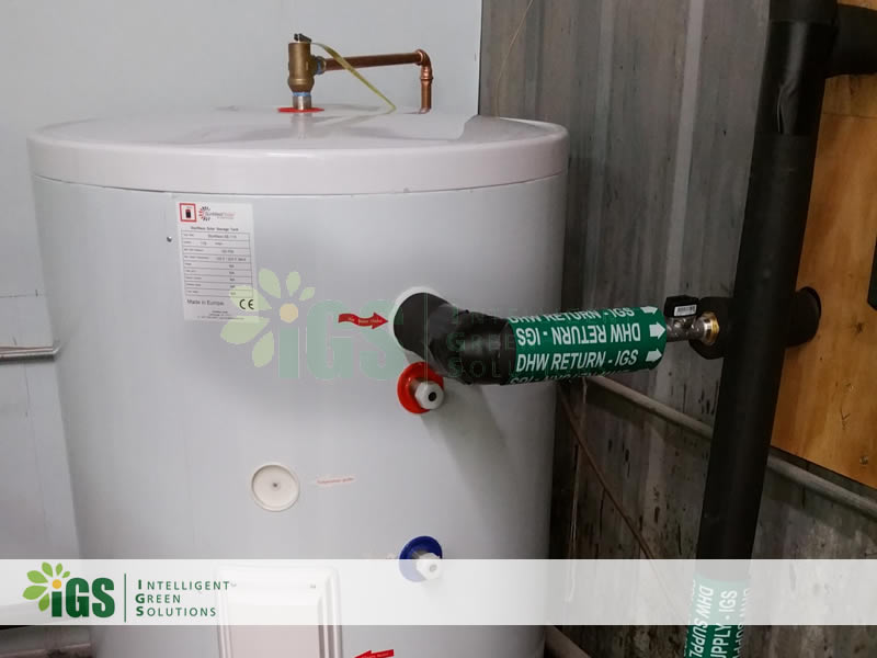 Commercial Solar Hot Water System – USA Custom Pad Installation Image