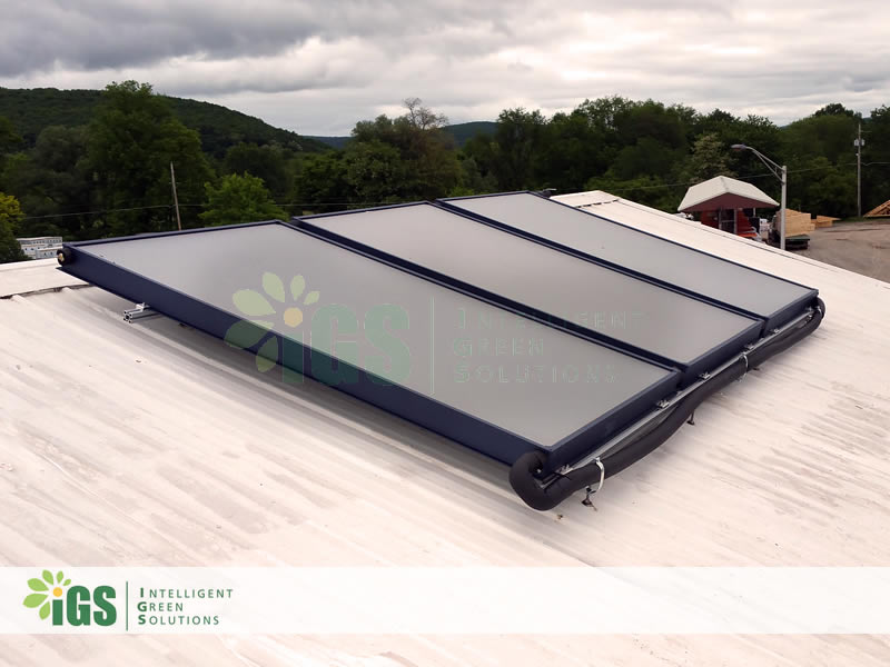 Commercial Solar Hot Water System – USA Custom Pad