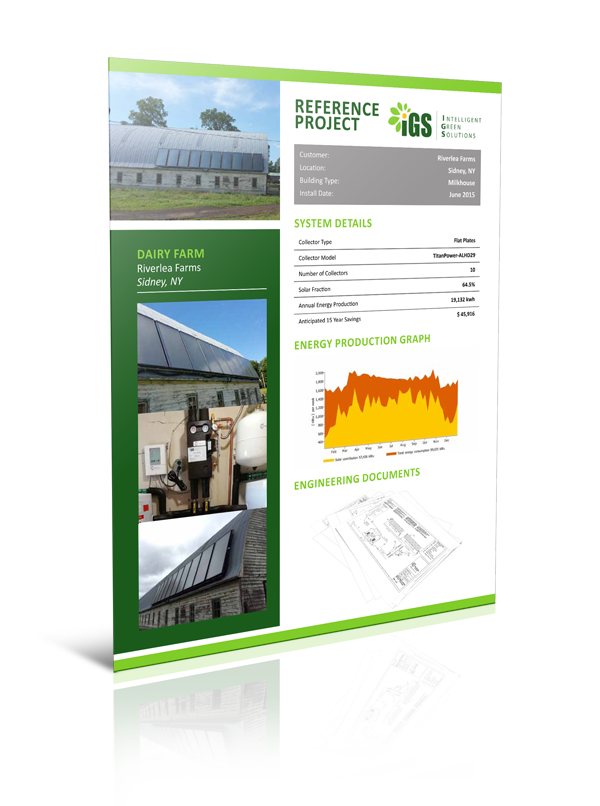Reference Project – Riverlea Farms Solar Hot Water System