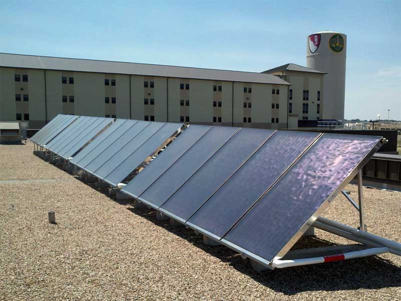 Solar Hot Water At Fort Hood Army Base