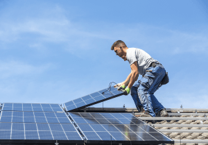 In 2020 solar systems are required on new houses in California