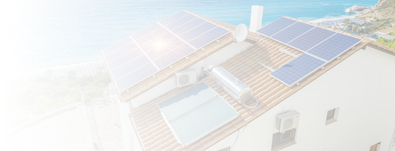 solar electric and hot water system on summer house