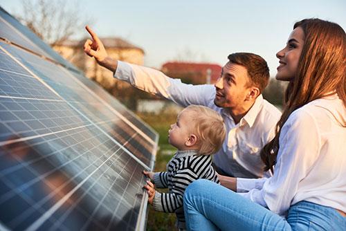 family solar pv system