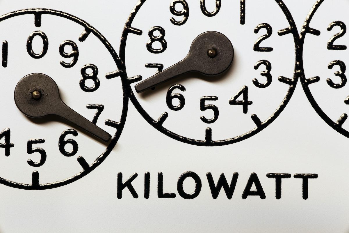 Solar energy is measured in kilowatt hours.
